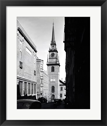 Framed Low angle view of a clock tower, Boston, Massachusetts, USA Print