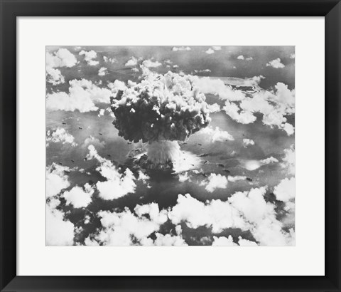 Framed High angle view of an atomic bomb explosion, Bikini Atoll, Marshall Islands, July 25, 1946 Print