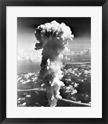 Framed Clouds formed by an atomic explosion Print