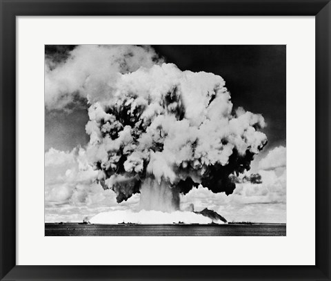 Framed Atomic bomb explosion, Bikini Atoll, Marshall Islands, July 24, 1946 Print