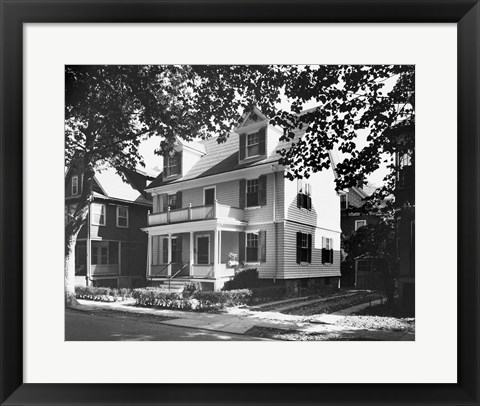 Framed Birthplace of John F. Kennedy, Brookline, Massachusetts, USA Print