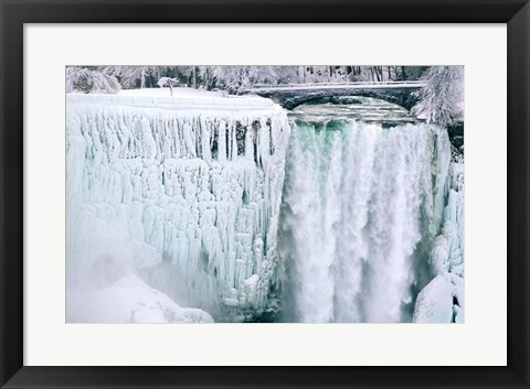 Framed High angle view of a waterfall, American Falls, Niagara Falls, New York, USA Print