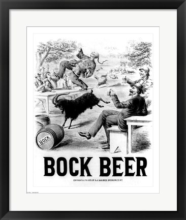 Framed Bock Beer celebration Print