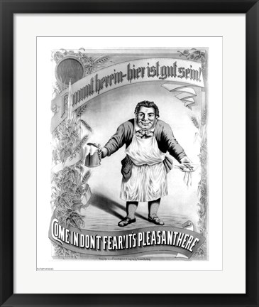 Framed Come in Don't Fear! It's Plesant Here Print