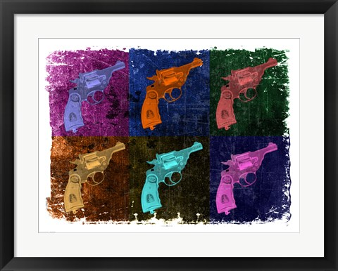 Framed Revolver - Pop Art Print