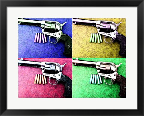 Framed Colt Single Action Print