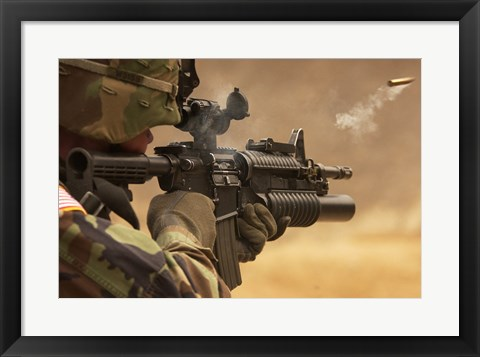 Framed M4 Carbine Firing Print