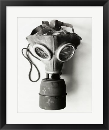 Framed Close-up of a Gas Mask Print