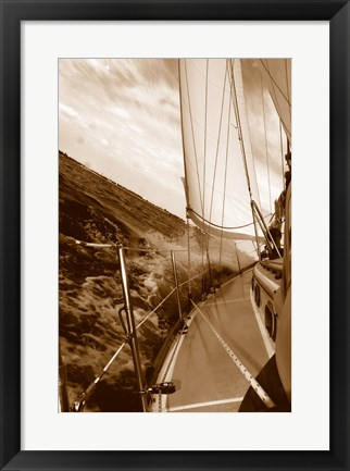 Framed Not Unlike the Waves - sepia Print