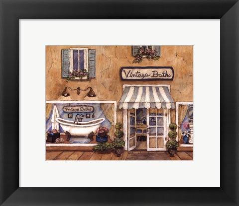 Framed Vintage Baths Print