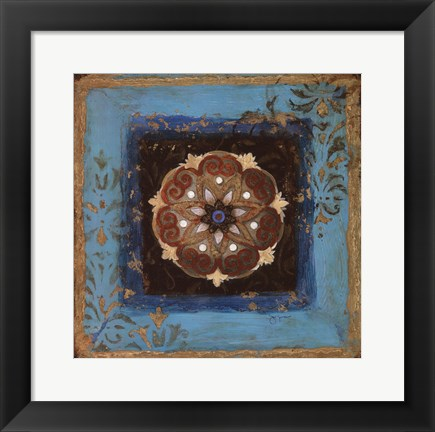 Framed Exotic Medallion II Print