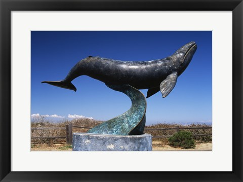 Framed Gray Whale Statue Cabrillo National Monument California USA Print
