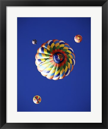 Framed View of Hot Air Balloons from Underneath Print