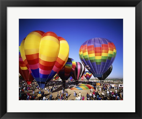 Framed Hot air balloons at the Albuquerque International Balloon Fiesta, Albuquerque, New Mexico, USA Print