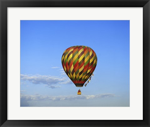 Framed Hot air balloon rising, Albuquerque, New Mexico, USA Print