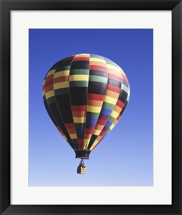 Framed Low angle view of a hot air balloon rising, Albuquerque, New Mexico, USA Print