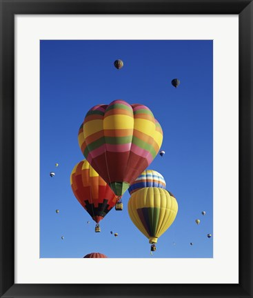 Framed Hot air balloons at the Albuquerque International Balloon Fiesta, Albuquerque, New Mexico, USA Launch Print