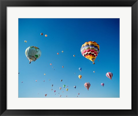 Framed Hot Air Balloons in New Mexico Print