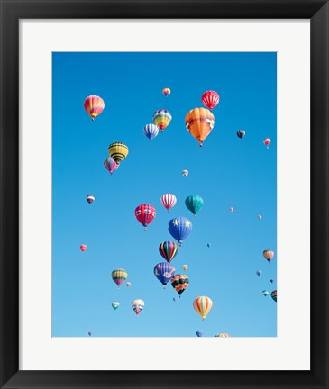 Framed Tons of Hot Air Balloons Flying Print