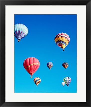 Framed Low Angle View of Hot Air Balloons Print
