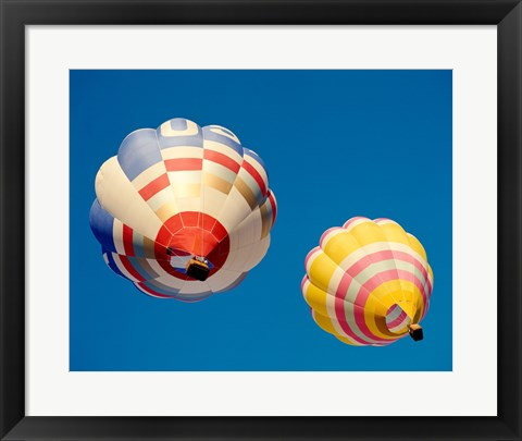 Framed Hot Air Balloons from the Ground Print