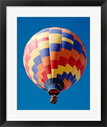 Framed Low angle view of a hot air balloon in Albuquerque, New Mexico, USA Print