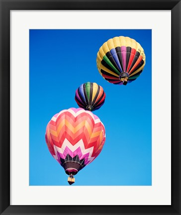 Framed Different Angles of Hot Air Balloons Print