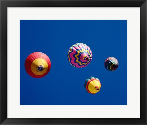 Framed Four Hot Air Balloons from Below Print