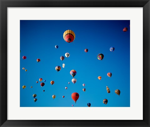 Framed Swarms of Hot Air Balloons Print