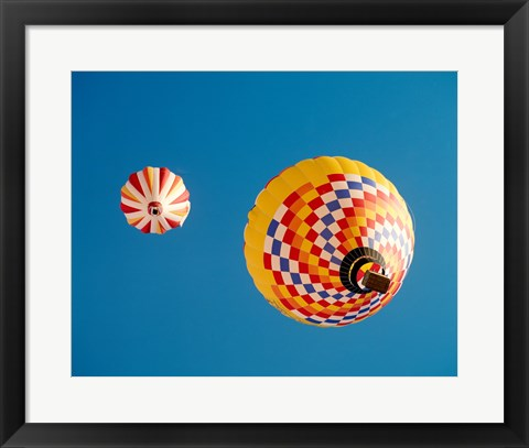 Framed View of Hot Air Balloons from Below Print