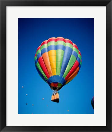 Framed Hot Air Balloon Close Up with a Basket Print