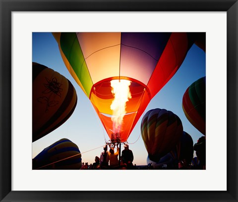 Framed Low angle view of a hot air balloon taking off, Albuquerque, New Mexico, USA Print