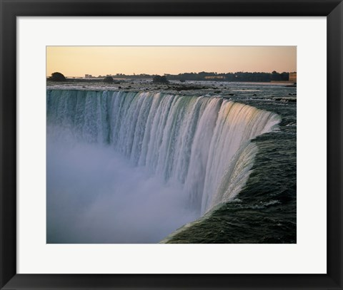 Framed High angle view of a waterfall, Niagara Falls, Ontario, Canada Print