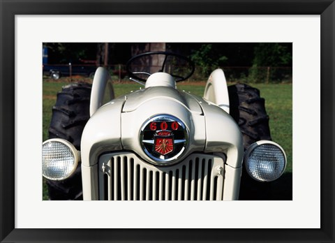 Framed Ford Tractor, model 600 made in 1954, close-up Print