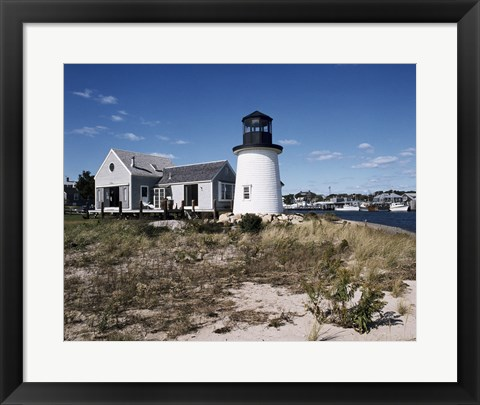 Framed Lewis Bay Replica Lighthouse Hyannis Massachusetts USA Print