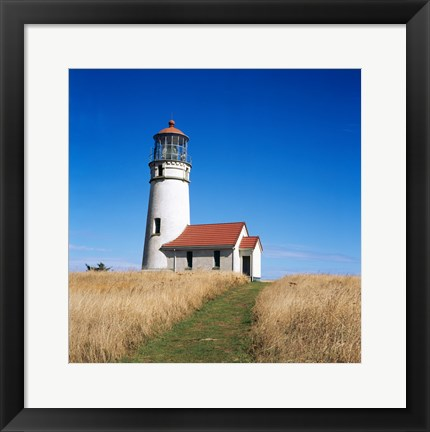 Framed Low angle view of a lighthouse, Cape Blanco Lighthouse, Cape Blanco State Park, Oregon, USA Print