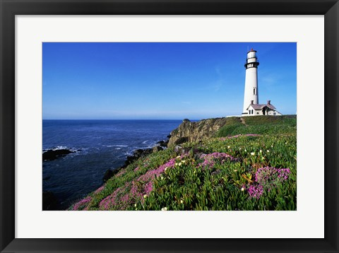 Framed View of the Pigeon Point Lighthouse, Pigeon Point Light Station State Historic Park, California, USA Print