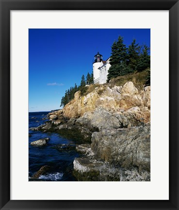 Framed Bass Harbor Head Lighthouse Mount Desert Island Maine USA Print