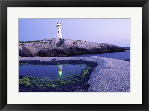 Framed Peggy's Cove Lighthouse, Peggy's Cove, Nova Scotia, Canada Print