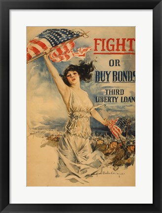 Framed Fight or Buy Bonds Print