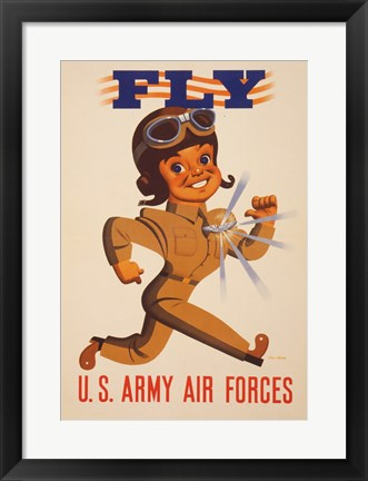 Framed Fly U.S. Army Air Forces Print
