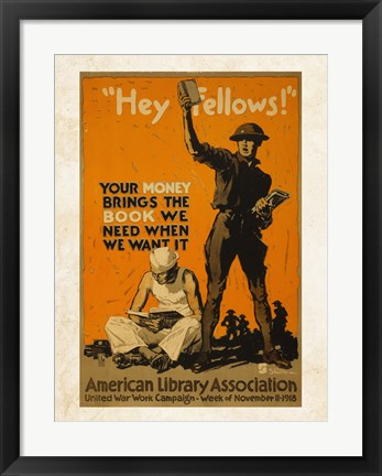 Framed American Library Association Print