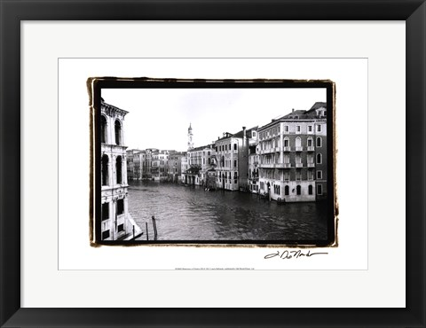 Framed Waterways of Venic XII Print