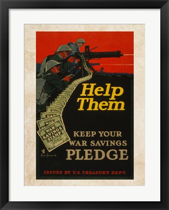 Framed War Savings Pledge Print