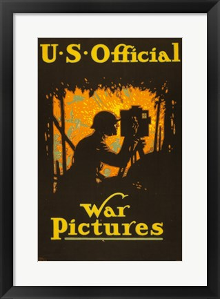 Framed U.S. Official War Pictures Print