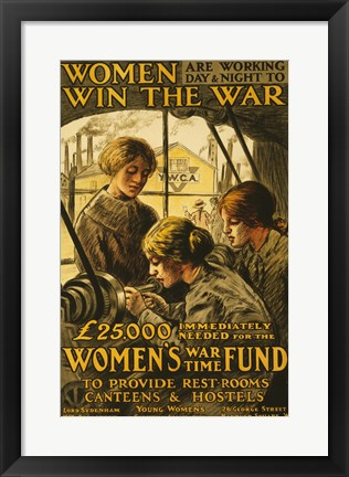 Framed Women Win the War Print