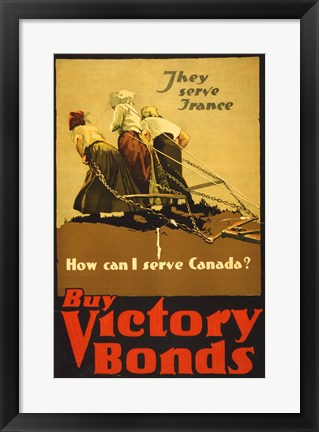 Framed Buy Victory Bonds Print