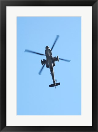 Framed Low angle view of a military helicopter in flight Print