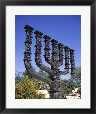 Framed Low angle view of a menorah, Knesset Menorah, Jerusalem, Israel Print