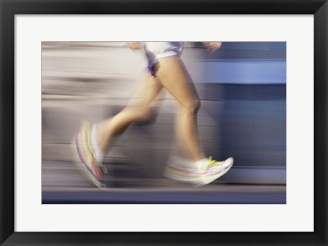 Framed Low section view of a person running Print